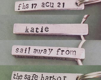 Graduation Necklace or Keychain - Personalized - Sail Away From the Safe Harbor