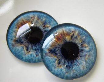 Blue Glass Eyes Realistic Animal Taxidermy Eyeballs 20mm