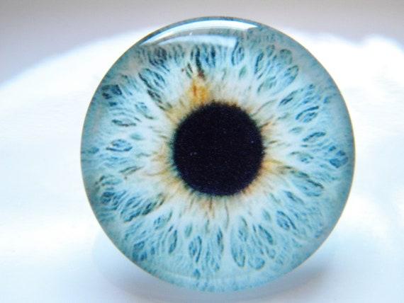 14mm BROWN GLASTIC Realistic Acrylic Pair of Doll Eyes Eyeballs DOLL EYE PARTS