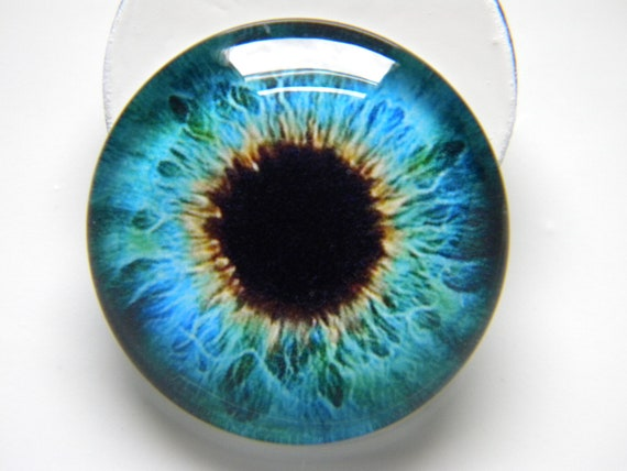 Glass Eyes Blue Realistic Small Human Doll Eyeball 12mm Set