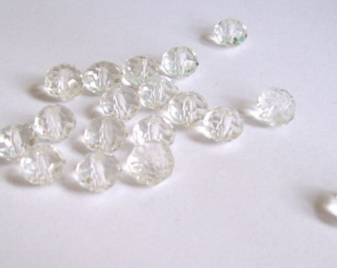 crystal beads pack clear beads sewing beads jewellery beads decorative beads