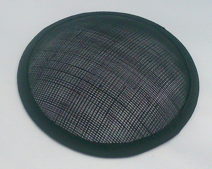 black hat base sinamay round fascinator base 13cm (5 inch)