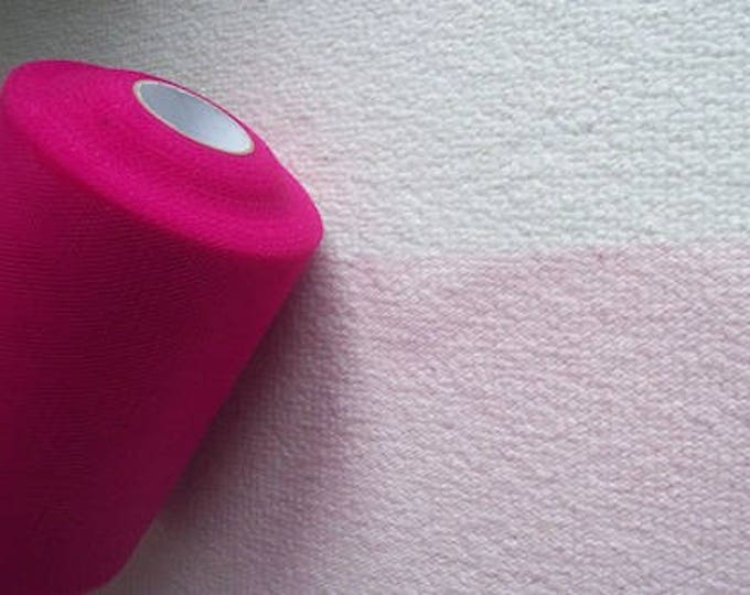 """Pink netting 6"""" wide pink cerise netting tulle netting sold per yard"""