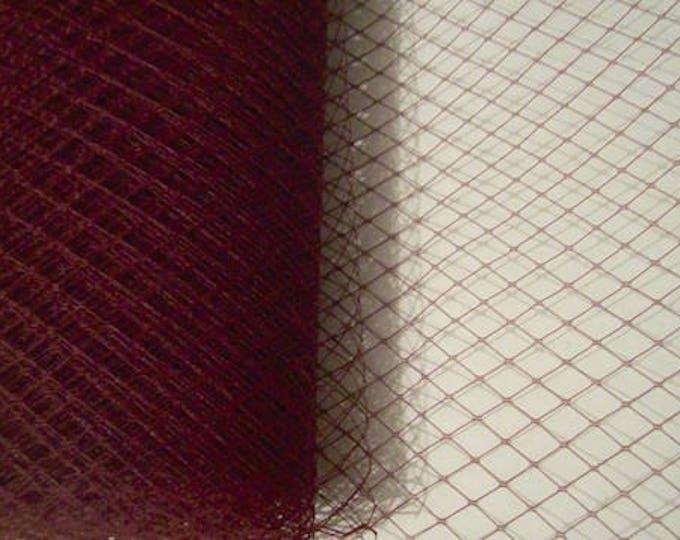 veil birdcage veil Millinery veiling bridal french net veil - per metre burgundy