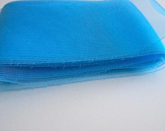Crin Fabric UK Crin Blue crinoline horsehair braid 6inch (15cm) crinoline fabric  Sold per YARD (continuous)