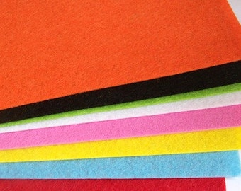 Felt sheets pack of 8 multi colour 30cm x 21cm