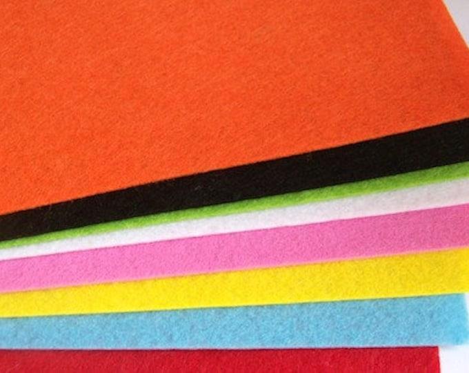 Felt sheets pack of 8 multi colour 30cm x 21cm