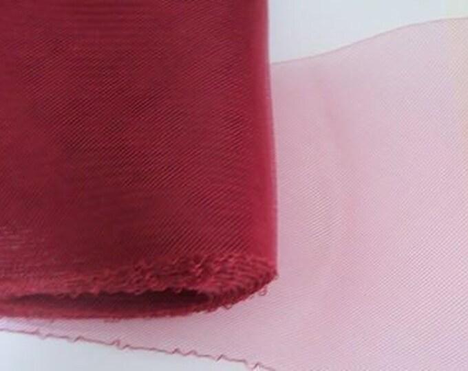 "Crin red 6""  horsehair burgundy (crinoline horsehair braid) 6 inch (16 cm) crinoline fabric"