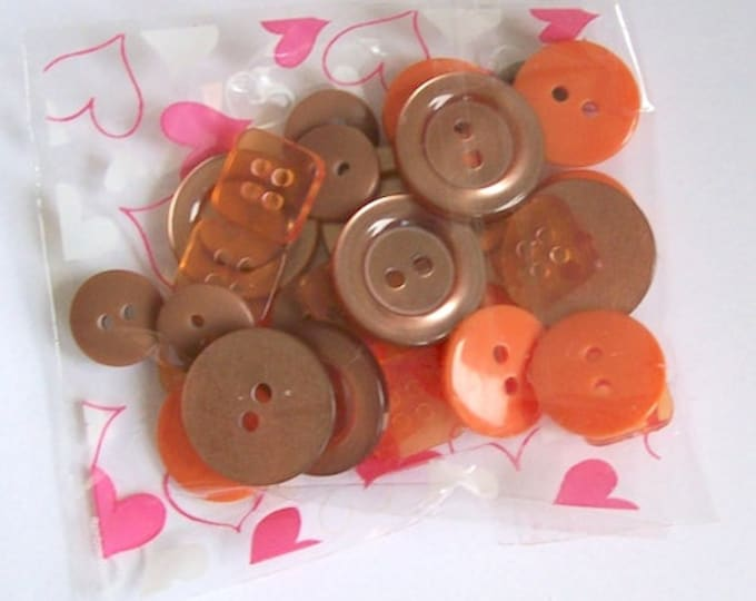 orange buttons pack of mix buttons brown orange mix sizes ideal for craft sewing knitting scrapbooking