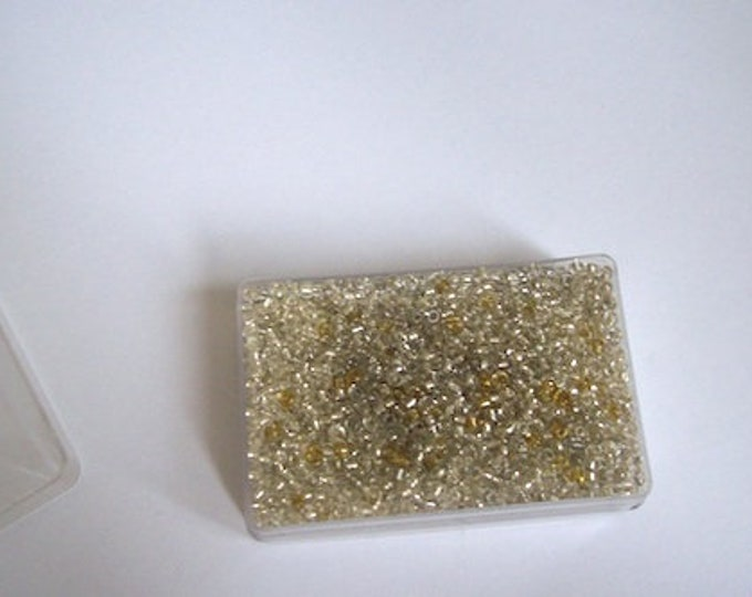 small gold seed beads tiny seed beads gold silver beads box ideal for sewing embellishments