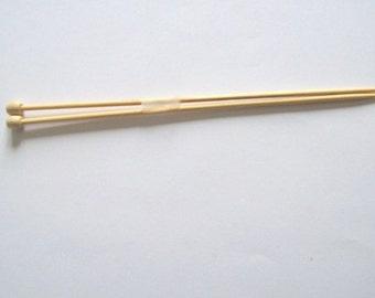 knitting needles 3mm pair of bamboo knitting pins, UK size 11