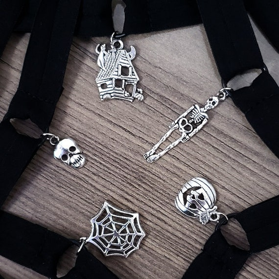 HALLOWEEN O-Ring choker - adjustable, soft and stretchy LIMITED EDITION