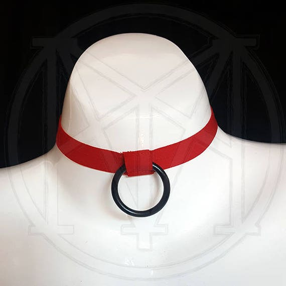 many colors CUSTOMIZE your hanging O-Ring choker - soft and stretchy