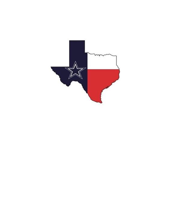 Dallas Cowboys Texas Svg Vector Etsy