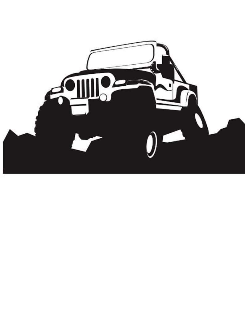 4x4 Jeep Svg Vector Image Logo Etsy