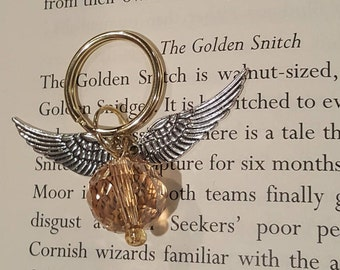 Golden Snitch Key Chain - Crystal