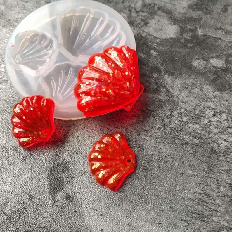 Mini Crystal Dijiao Shell Silicone Mold diy Ornament Making Small Shell Porcelain Striped Chocolate Foldant Cake Decorative Mold