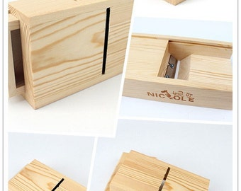 NK-10 Loaf Soap Trim Tools Wooden Box With Metal Blade DIY Trimming Polishing