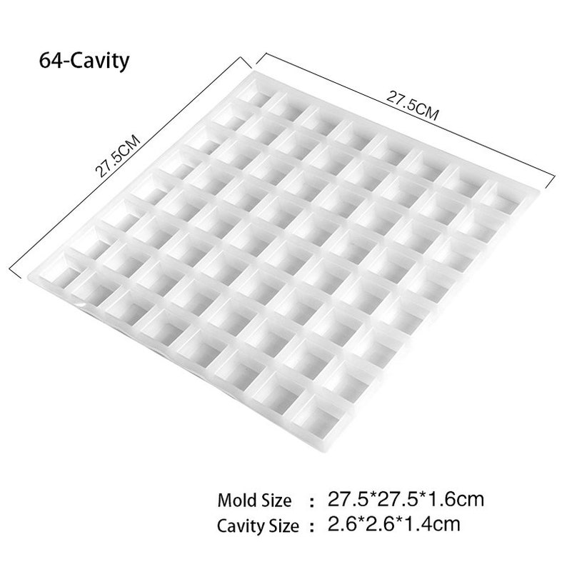80-Cavity Ice Cube Tray Silicone Mold Chocolate Candy Bar Brown Sugar Mould  Whisky Ice Cube Maker