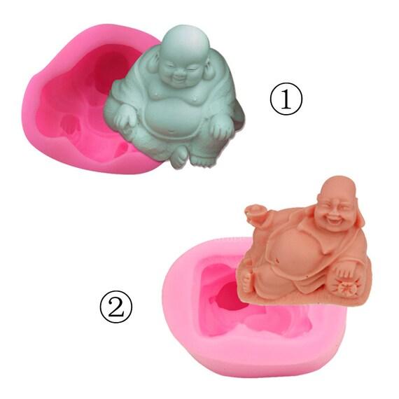 Laughing Buddha Craft Art Silicone Soap Mould Handmade Cake Decor Soap DIY Molds
