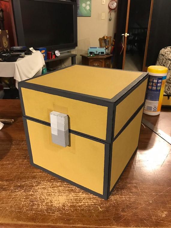Minecraft Cardboard Storage Chest