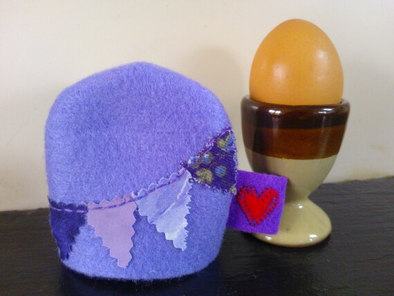 Cute Egg Cosy Purple Gift Ideas Boiled Egg Cover New Kitchen Gifts Present For Foody Felt Bunting Cozy Mini Gifts For Her Egg Warmer