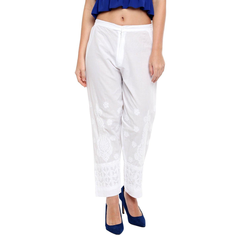 d7e91df6c04448 Women White cotton cigarette pant harem pant trouser salwar/ | Etsy