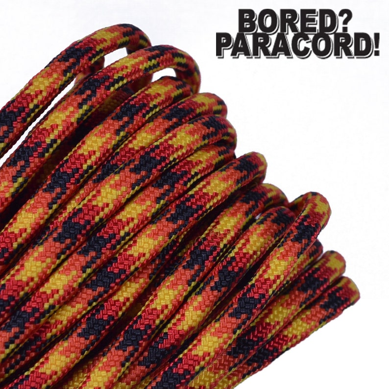 Made in the United States Flame 550 Paracord for Paracord Crafts 100 Feet