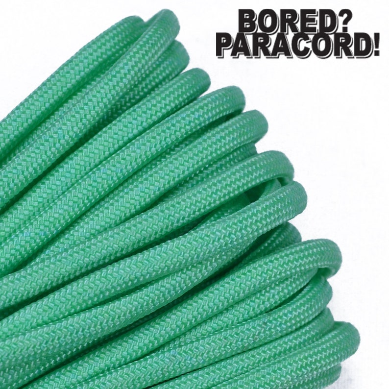 Made in the United States Mint 100 Feet 550 Paracord for Paracord Crafts