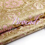 Champagne Brocade Lotus Fabric by the yard