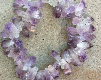 Pendant Beads, Amethyst Drop Beads, top drilled amethyst drops