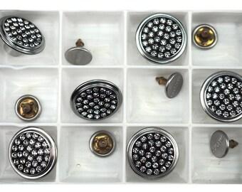 rucksack dungerees UK bags 6pcs Metal suspender buttons /& Pins For Denim Jeans