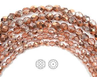 4x8mm Piggy Beads Crystal Capri Gold Czech Glass 00030-27101   1 DESTASH 30 Beads