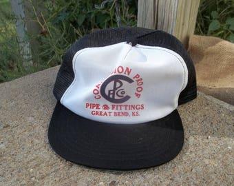 0420b240ad2 Vintage • Corrosion Proof Pipe Fittings Great Bend Kansas KS Mesh Hat Cap