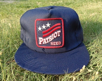631f2eee65c Vintage • Patriot Seed Agriculture Ag Business Baseball Cap Hat