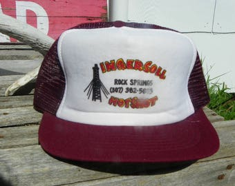 775e65d6461 Vintage • Ingersoll Rock Springs HotShot Hot Shot Foam Mesh Baseball Cap Hat