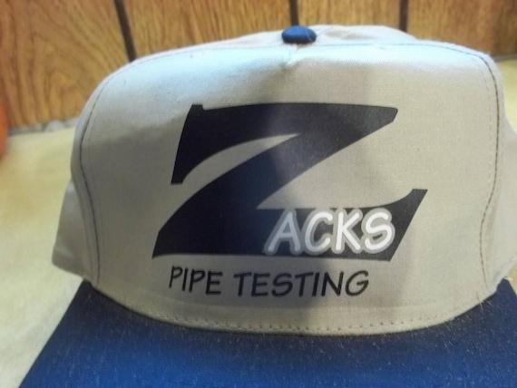 fe1d76af58c Vintage Zacks Pipe Testing Hat Cap Baseball Trucker