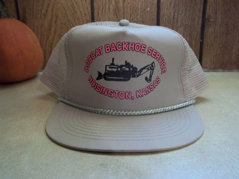 5f0493029e4 Vintage Bobcat Backhoe Service Hoisington Kansas KS Mesh Hat