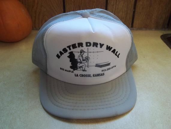 c1a4620291d Vintage Easter Dry Wall La Crosse Kansas Mesh Hat Cap