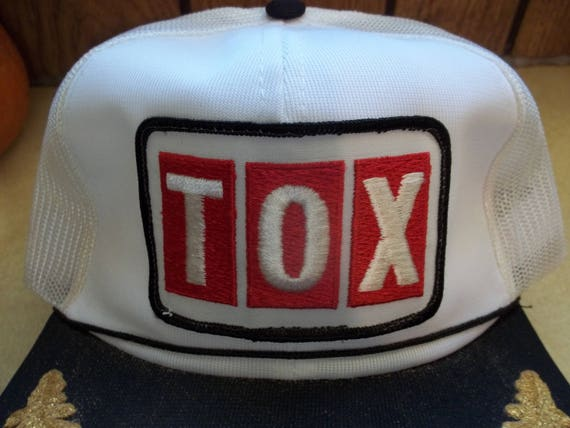e1565baef9f Vintage TOX Mesh Hat Cap Baseball Trucker Advertisement