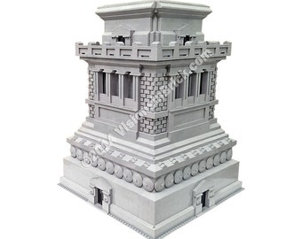Custom LEGO Statue of Liberty 3450 Pedestal/Base - FULL SET