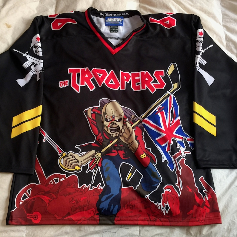 a708e821c CUSTOM Iron Maiden Eddie Hockey Jersey Black 5-8 Weeks