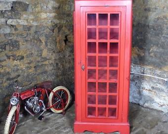 British Red Telephone Box Storage Cabinet