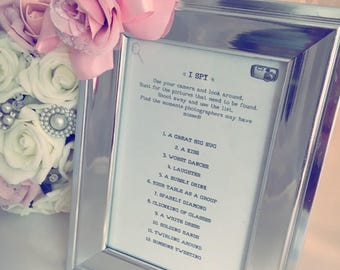 I Spy wedding game framed print