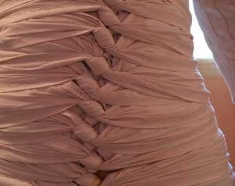 SMALL - Bengkung Belly Bind (natural muslin - use with your own tank top under fabric **beautifully hemmed)