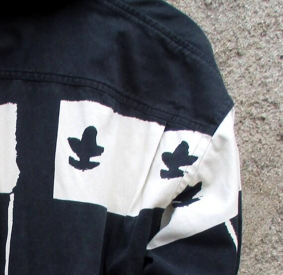 80 s Kenzo et chemise, bleu marine, crème et Kenzo beige fleuri, pur coton géométrique, de taille moyenne M, Kenzo Homme Made in France 47add8