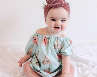Baby Girls Boho Dress-Girls Boho dress- girls peasant dress/top- Toddler Boho dress-GirlsTunic-Girls Fall dress-Girls Prarie Dress-NB to 8