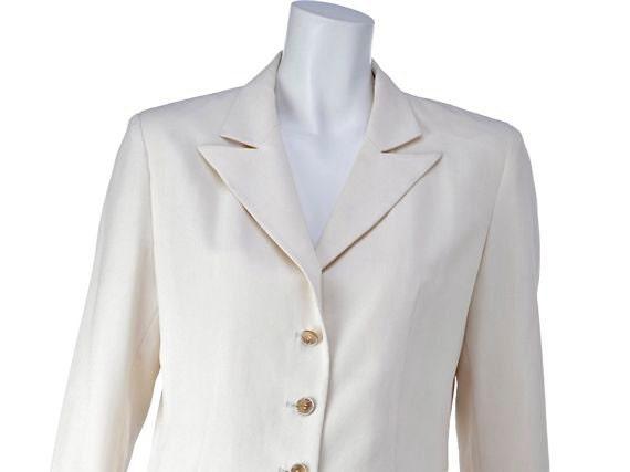 PACO RABANNE vintage jacket 80s, white cream color