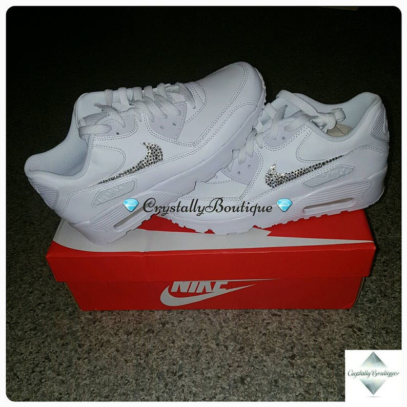the best attitude 7eec9 47699 Beautiful Adult Bling Nike Air max 90 Customised Tick with   Etsy