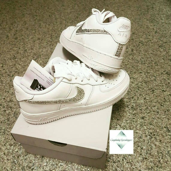Junior Nike Air Force Ones White